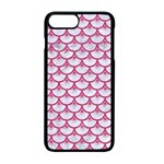 SCALES3 WHITE MARBLE & PINK DENIM (R) Apple iPhone 7 Plus Seamless Case (Black) Front