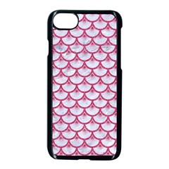 Scales3 White Marble & Pink Denim (r) Apple Iphone 7 Seamless Case (black)
