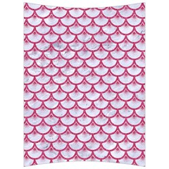 Scales3 White Marble & Pink Denim (r) Back Support Cushion by trendistuff