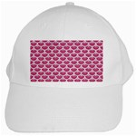 SCALES3 WHITE MARBLE & PINK DENIM White Cap Front