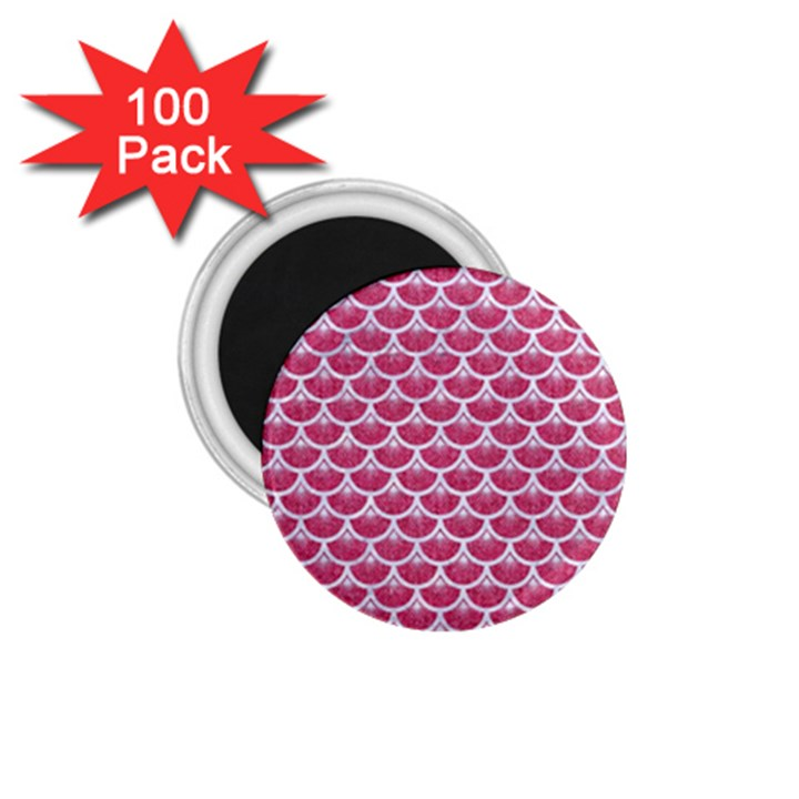 SCALES3 WHITE MARBLE & PINK DENIM 1.75  Magnets (100 pack)