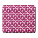 SCALES3 WHITE MARBLE & PINK DENIM Large Mousepads Front