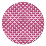 SCALES3 WHITE MARBLE & PINK DENIM Magnet 5  (Round) Front