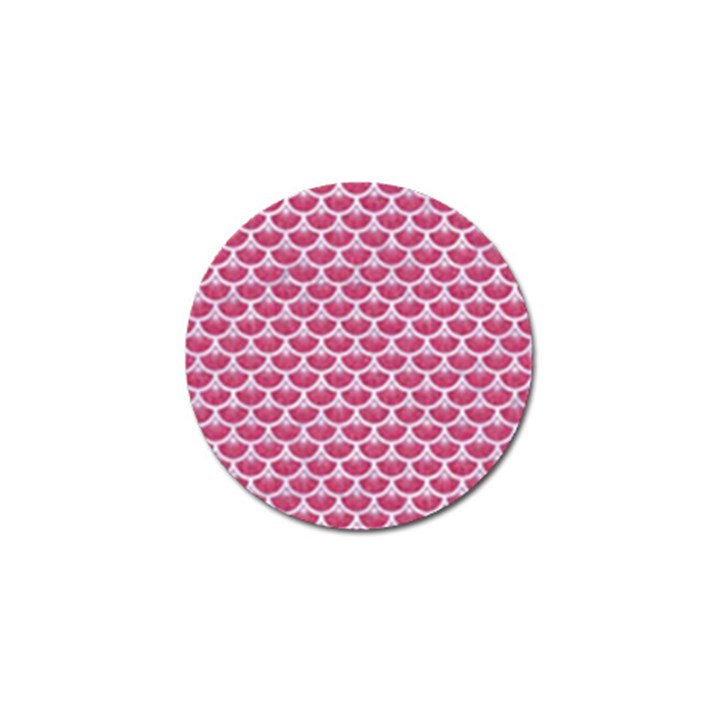 SCALES3 WHITE MARBLE & PINK DENIM Golf Ball Marker