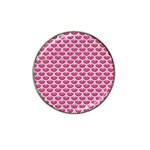 SCALES3 WHITE MARBLE & PINK DENIM Hat Clip Ball Marker (10 pack) Front