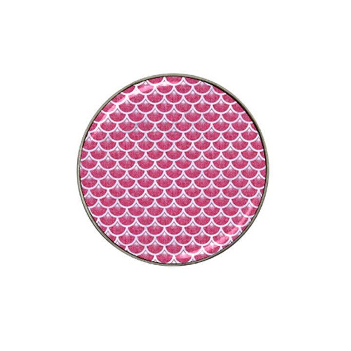 SCALES3 WHITE MARBLE & PINK DENIM Hat Clip Ball Marker (10 pack)
