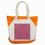 SCALES3 WHITE MARBLE & PINK DENIM Accent Tote Bag Front