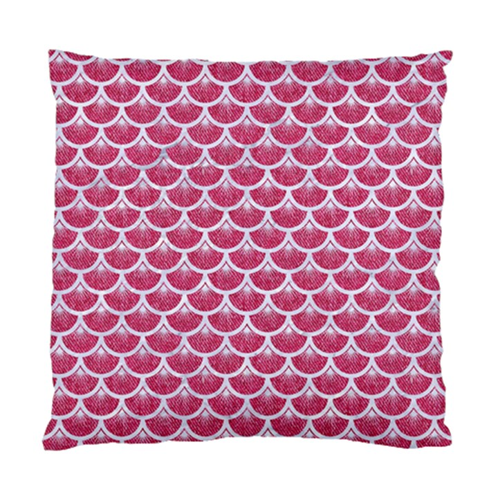 SCALES3 WHITE MARBLE & PINK DENIM Standard Cushion Case (One Side)