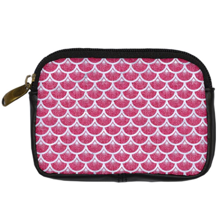 SCALES3 WHITE MARBLE & PINK DENIM Digital Camera Cases