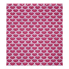 Scales3 White Marble & Pink Denim Shower Curtain 66  X 72  (large)