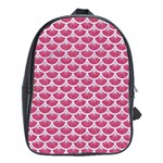 SCALES3 WHITE MARBLE & PINK DENIM School Bag (Large) Front