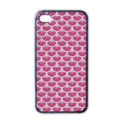 Scales3 White Marble & Pink Denim Apple Iphone 4 Case (black)