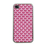 SCALES3 WHITE MARBLE & PINK DENIM Apple iPhone 4 Case (Clear) Front
