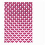 SCALES3 WHITE MARBLE & PINK DENIM Small Garden Flag (Two Sides) Back
