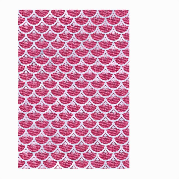 SCALES3 WHITE MARBLE & PINK DENIM Large Garden Flag (Two Sides)