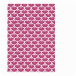 SCALES3 WHITE MARBLE & PINK DENIM Large Garden Flag (Two Sides) Back
