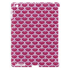 Scales3 White Marble & Pink Denim Apple Ipad 3/4 Hardshell Case (compatible With Smart Cover)