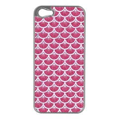 Scales3 White Marble & Pink Denim Apple Iphone 5 Case (silver)