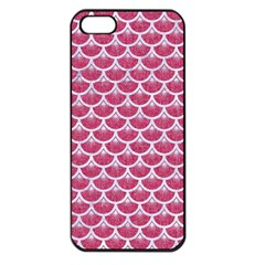 Scales3 White Marble & Pink Denim Apple Iphone 5 Seamless Case (black)