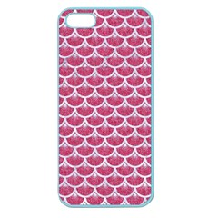 Scales3 White Marble & Pink Denim Apple Seamless Iphone 5 Case (color)