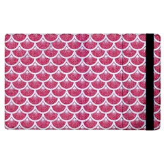 Scales3 White Marble & Pink Denim Apple Ipad 2 Flip Case