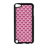 SCALES3 WHITE MARBLE & PINK DENIM Apple iPod Touch 5 Case (Black) Front
