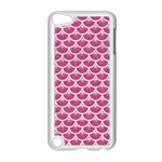 SCALES3 WHITE MARBLE & PINK DENIM Apple iPod Touch 5 Case (White) Front