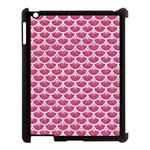 SCALES3 WHITE MARBLE & PINK DENIM Apple iPad 3/4 Case (Black) Front