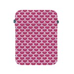 SCALES3 WHITE MARBLE & PINK DENIM Apple iPad 2/3/4 Protective Soft Cases Front