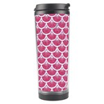 SCALES3 WHITE MARBLE & PINK DENIM Travel Tumbler Left