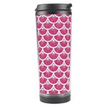 SCALES3 WHITE MARBLE & PINK DENIM Travel Tumbler Center