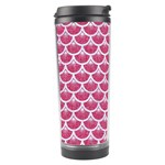 SCALES3 WHITE MARBLE & PINK DENIM Travel Tumbler Right