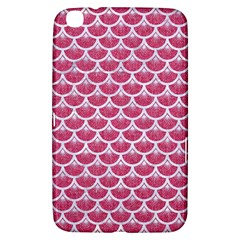 Scales3 White Marble & Pink Denim Samsung Galaxy Tab 3 (8 ) T3100 Hardshell Case  by trendistuff