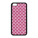 SCALES3 WHITE MARBLE & PINK DENIM Apple iPhone 5C Seamless Case (Black) Front