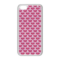 Scales3 White Marble & Pink Denim Apple Iphone 5c Seamless Case (white)