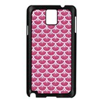 SCALES3 WHITE MARBLE & PINK DENIM Samsung Galaxy Note 3 N9005 Case (Black) Front