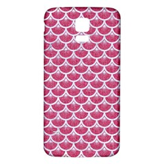 Scales3 White Marble & Pink Denim Samsung Galaxy S5 Back Case (white)