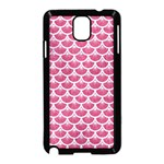 SCALES3 WHITE MARBLE & PINK DENIM Samsung Galaxy Note 3 Neo Hardshell Case (Black) Front