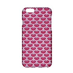 Scales3 White Marble & Pink Denim Apple Iphone 6/6s Hardshell Case