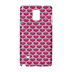 Scales3 White Marble & Pink Denim Samsung Galaxy Note 4 Hardshell Case