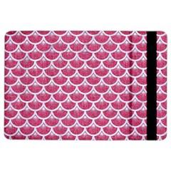 Scales3 White Marble & Pink Denim Ipad Air 2 Flip by trendistuff