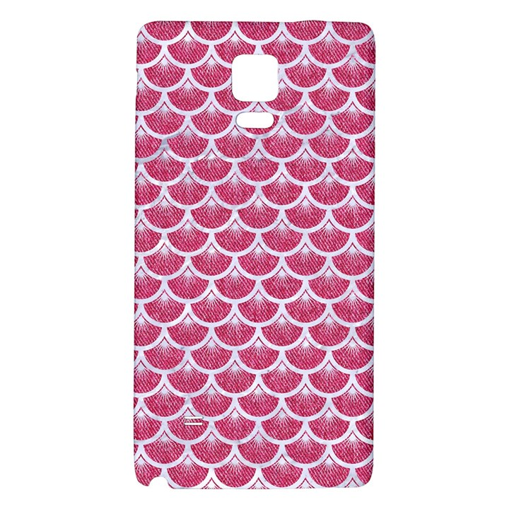 SCALES3 WHITE MARBLE & PINK DENIM Galaxy Note 4 Back Case
