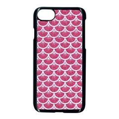 Scales3 White Marble & Pink Denim Apple Iphone 7 Seamless Case (black)