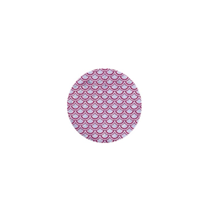 SCALES2 WHITE MARBLE & PINK DENIM (R) 1  Mini Buttons