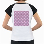 SCALES2 WHITE MARBLE & PINK DENIM (R) Women s Cap Sleeve T Back