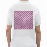 SCALES2 WHITE MARBLE & PINK DENIM (R) Golf Shirts Back