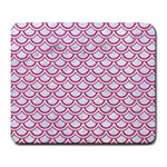 SCALES2 WHITE MARBLE & PINK DENIM (R) Large Mousepads Front