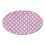 SCALES2 WHITE MARBLE & PINK DENIM (R) Oval Magnet Front