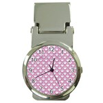 SCALES2 WHITE MARBLE & PINK DENIM (R) Money Clip Watches Front