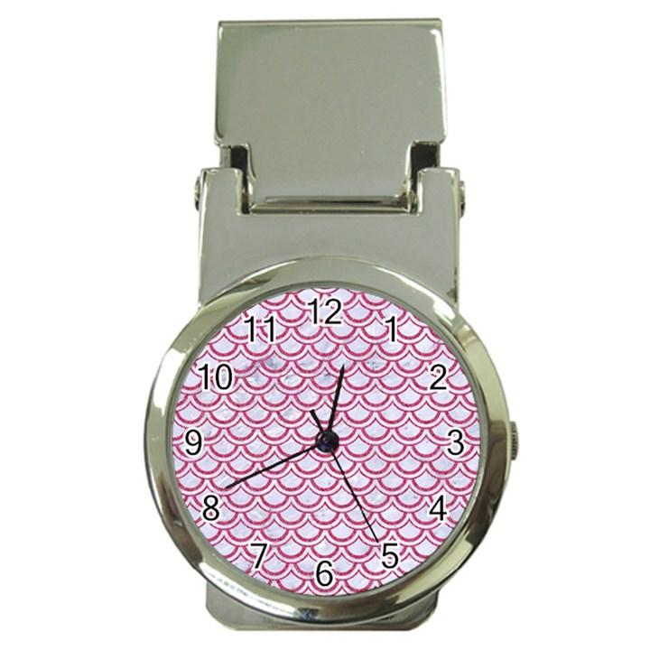 SCALES2 WHITE MARBLE & PINK DENIM (R) Money Clip Watches